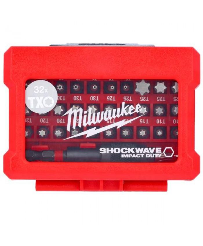 32-delni set vijačnih nastavkov Milwaukee Shockwave Impact