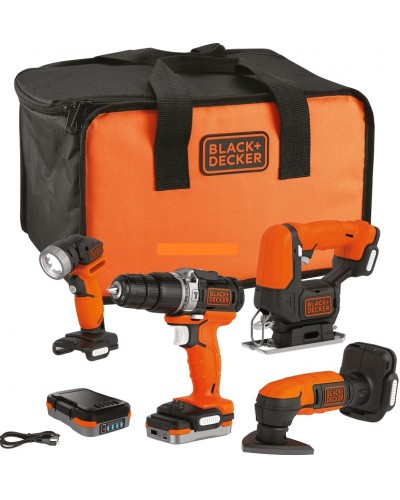 4-delni set orodja Black & Decker BDCK123S2S