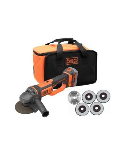 Akumulatorski kotni brusilnik Black & Decker BCG720M1A5