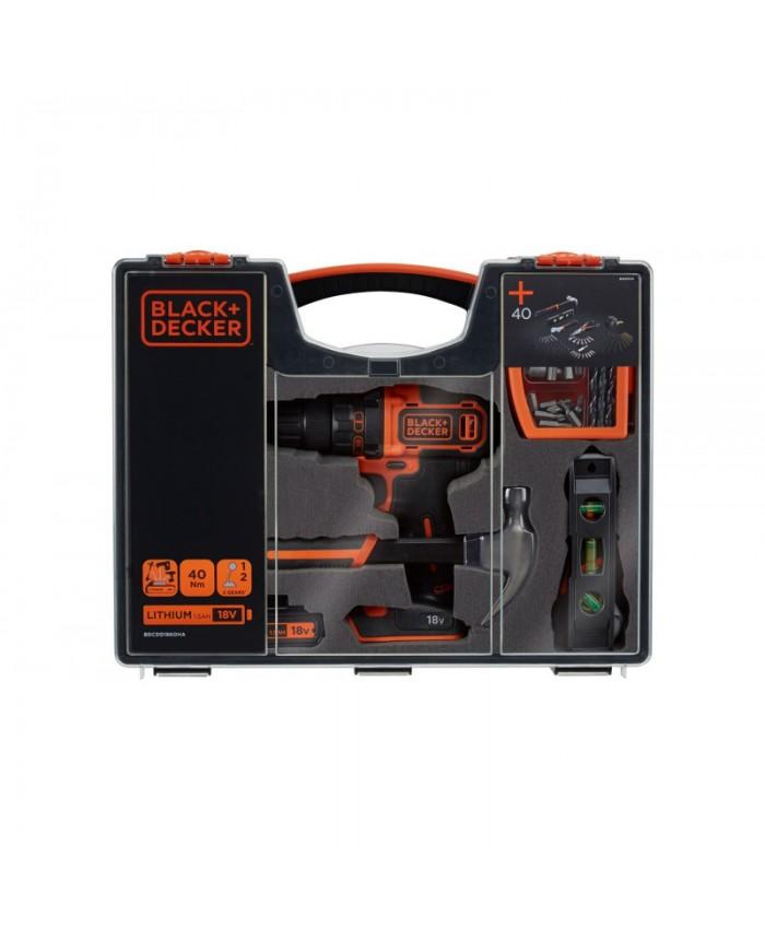 Akumulatorski vrtalnik Black & Decker BDCDD186OHA