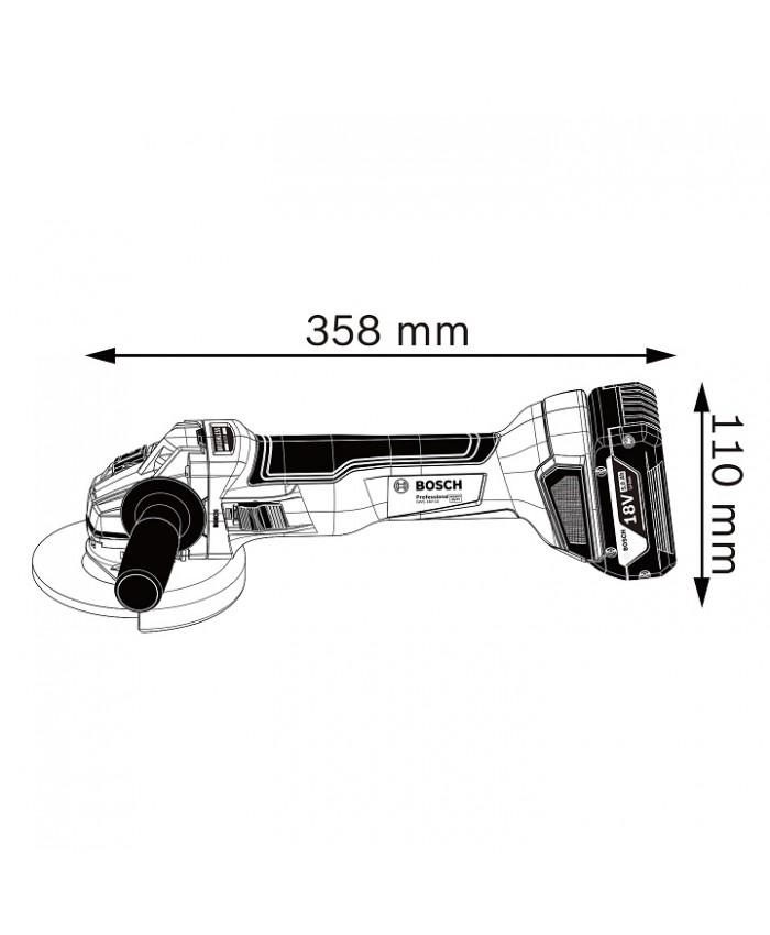 Akumulatorski kotni brusilnik Bosch GWS 18V-10