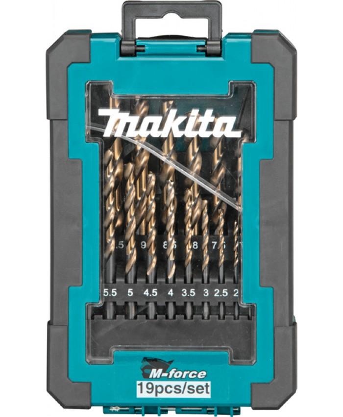 19-delni set M-force svedrov za kovino Makita D-67583