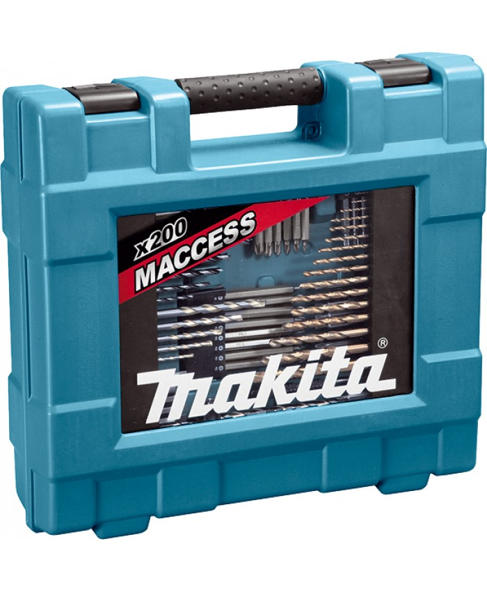 200-delni set za vrtanje in vijačenje Makita D-37194