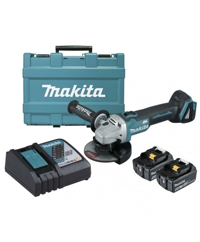 Akumulatorski kotni brusilnik Makita DGA506RTE