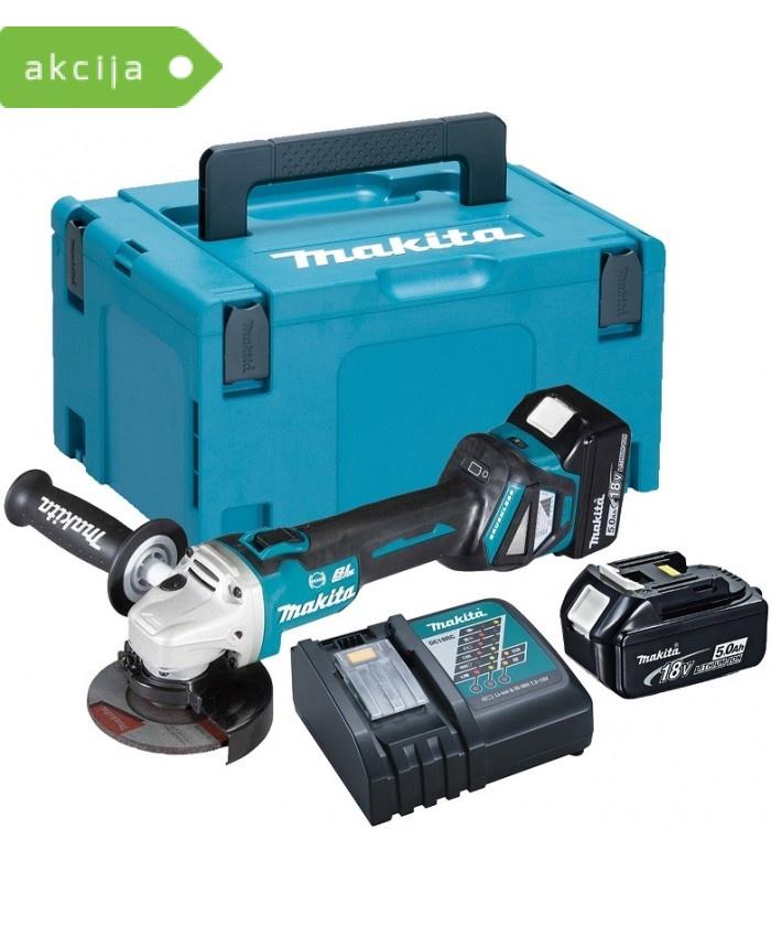 Akumulatorski kotni brusilnik Makita DGA513RTJ
