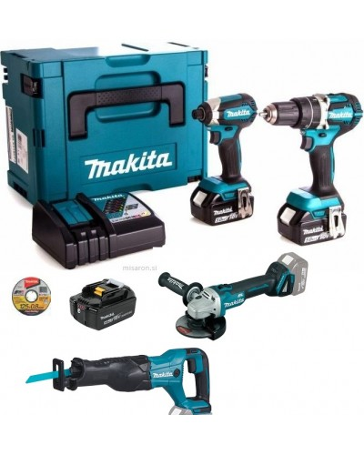 4-delni set orodja Makita DLX2127TJM
