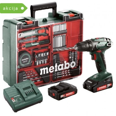 Akumulatorski vrtalnik Metabo BS 18 SET