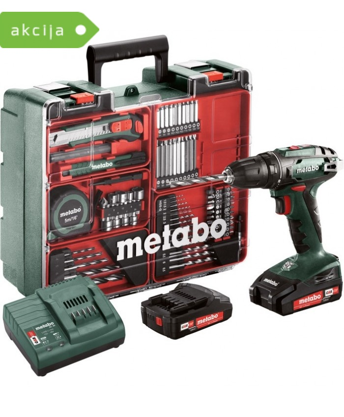 Akumulatorski vrtalnik Metabo BS 18 SET