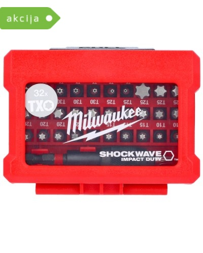 32-delni set vijačnih nastavkov Milwaukee Shockwave Impact