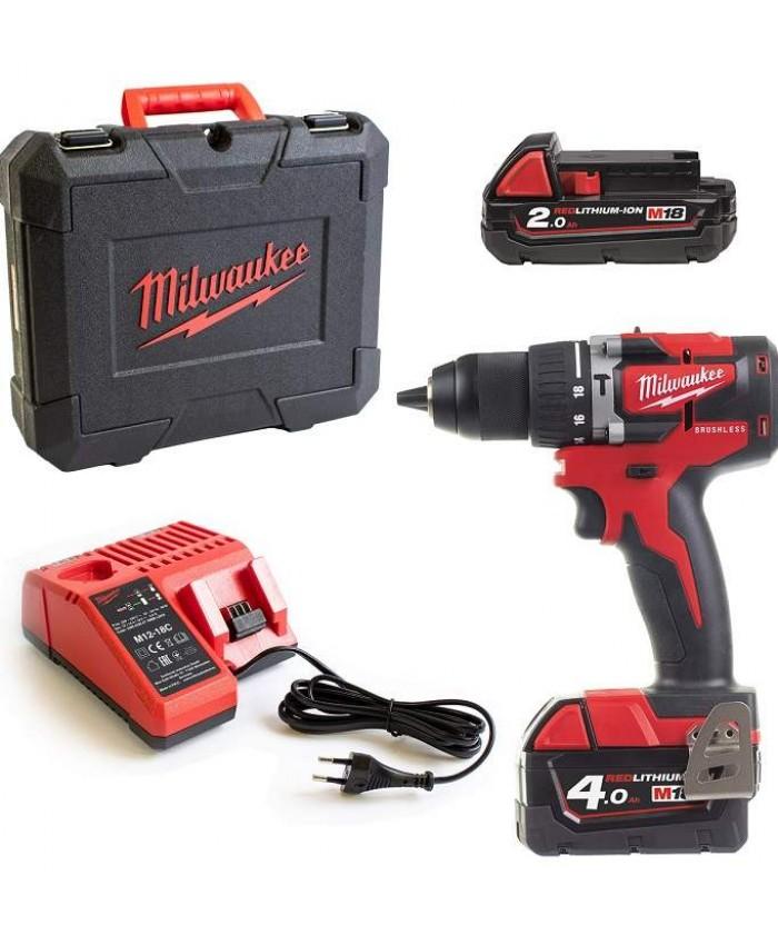 Akumulatorski udarni vrtalnik Milwaukee M18 CBLPD-422C