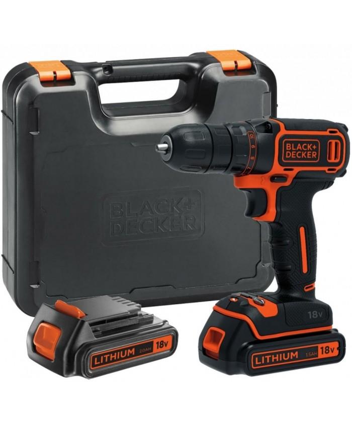 Akumulatorski vrtalnik Black & Decker BDCDD186KB