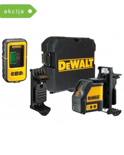 Križno linijski laser z detektorjem Dewalt DW088KD