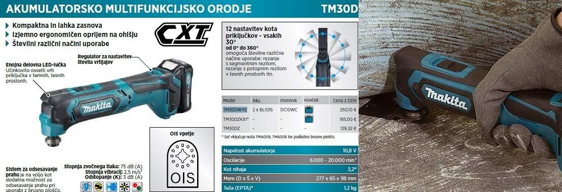 multifunkcijsko orodje Makita TM30DWYE